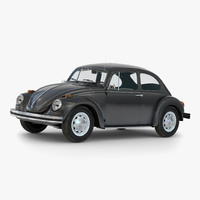 Volkswagen Beetle 1966 Simple Interior Black