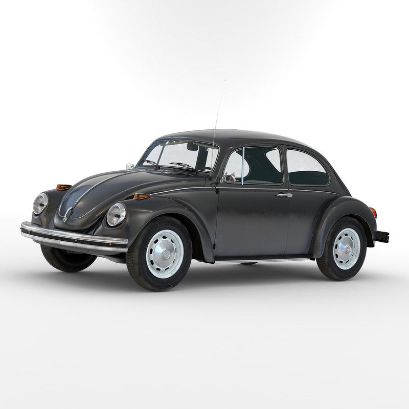 volkswagen beetle 1966 simple c4d