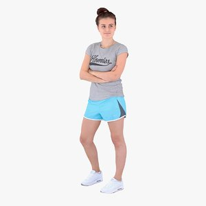 3d model of casual woman