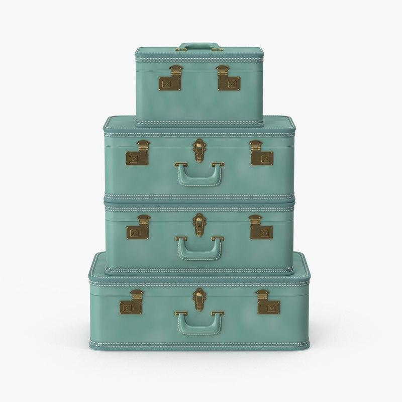 Vintage Suitcase Set 114