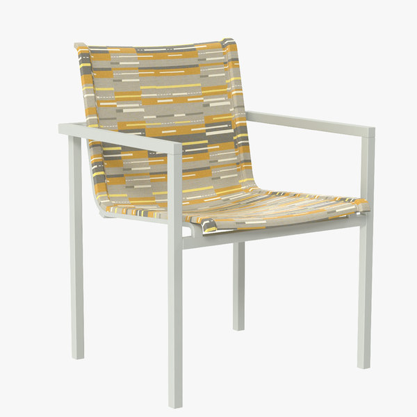 3d blu skiff stacking outdoor chair