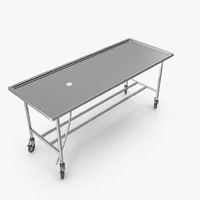 Table for autopsy on wheels