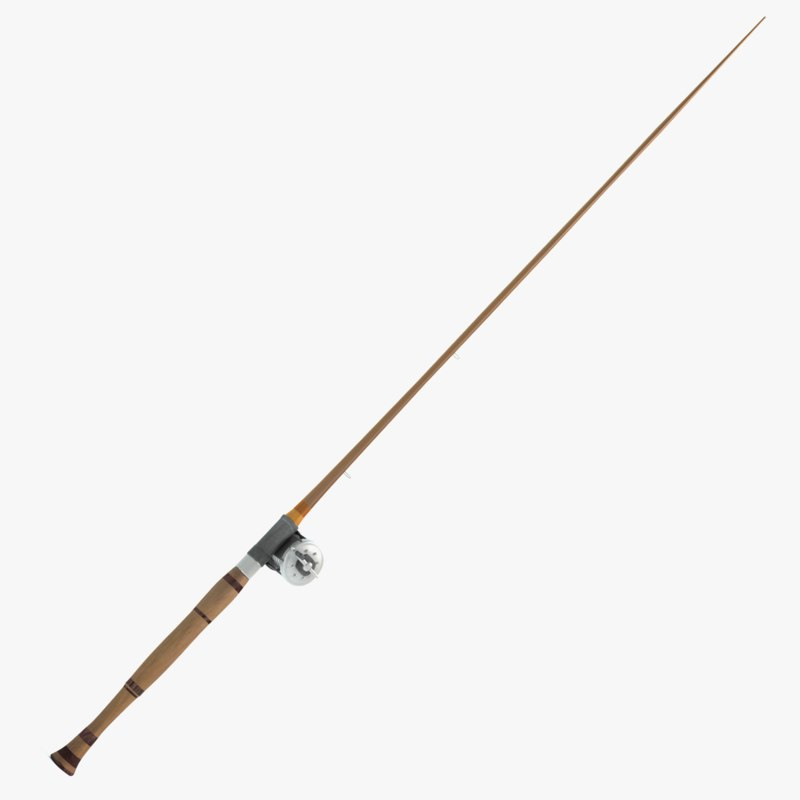 old fishing pole 3d model