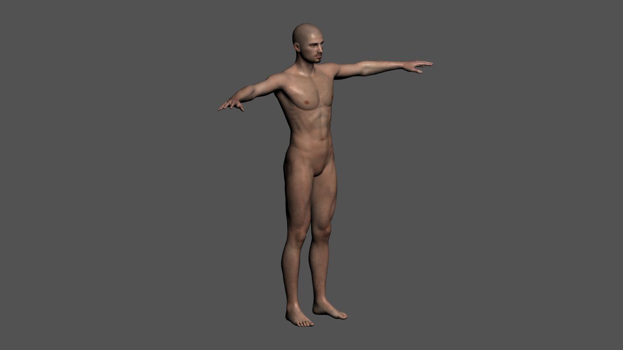 3d model realistic rigged male