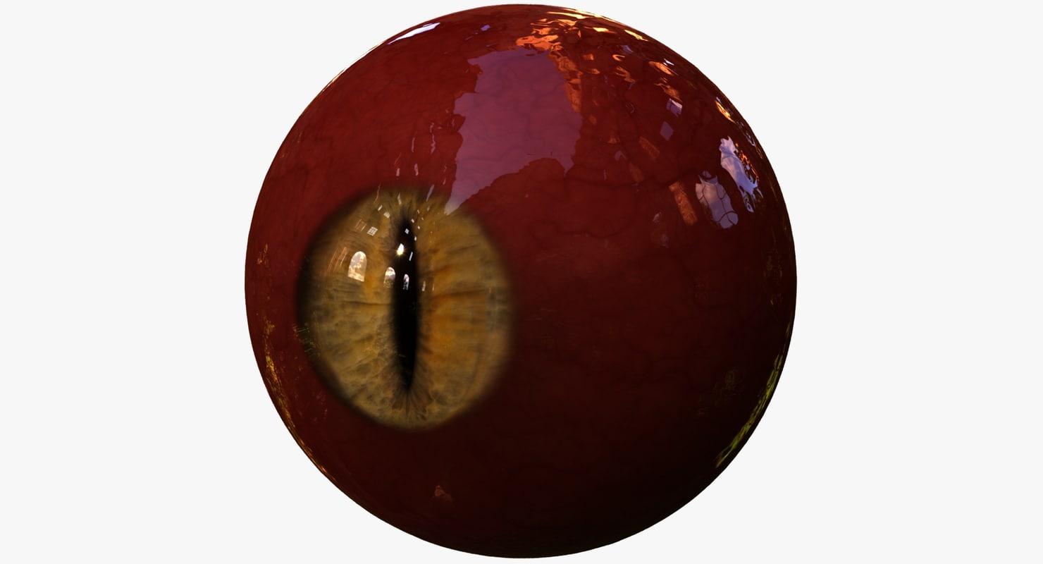 obj realistic human creature eye pupil