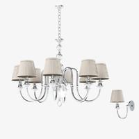 newport chandelier 3106 3d model