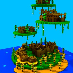 3d highrise island model