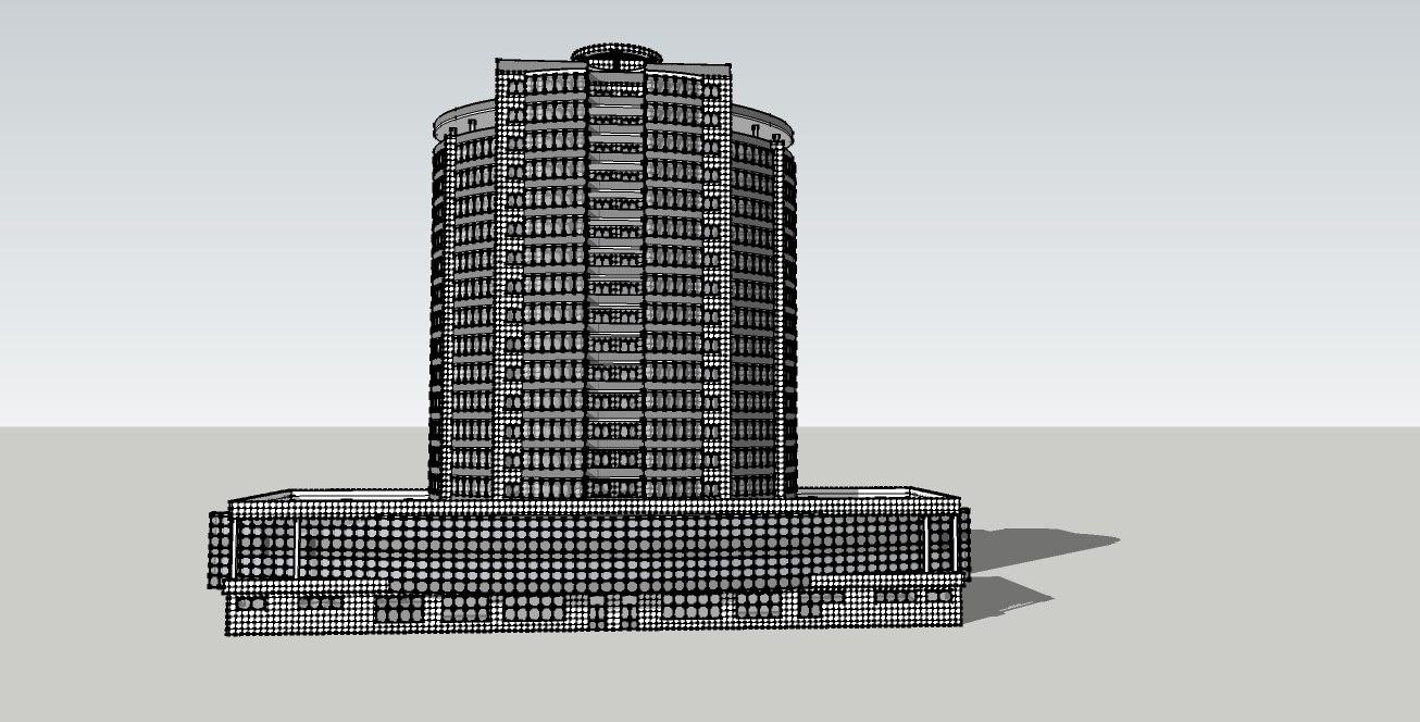 3ds high-rise apartment building