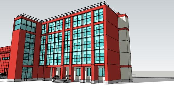 3d medical center model