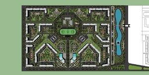 3d housing estate model