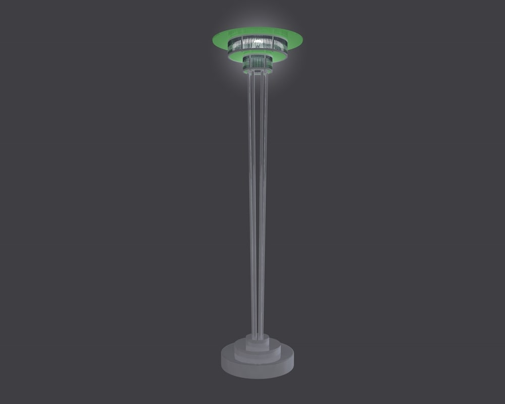 3d art deco floor lamp