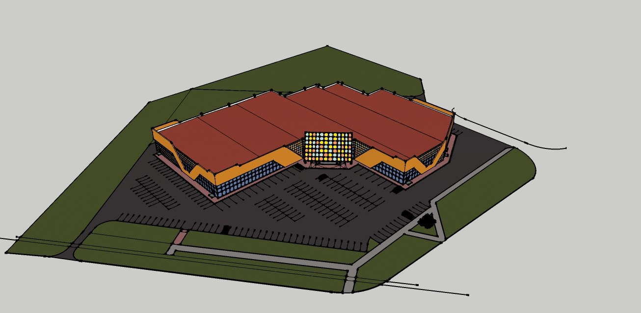 3d model choping center