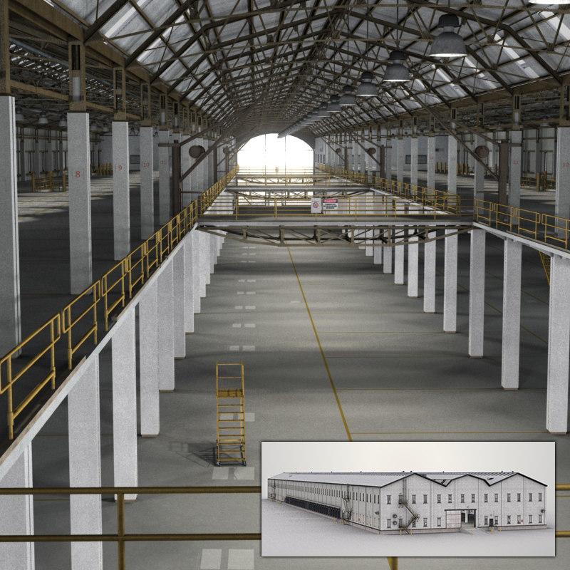 3d warehouse interior model