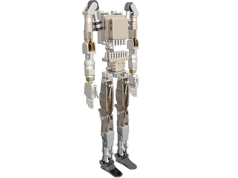 petman robot dynamically 3d model