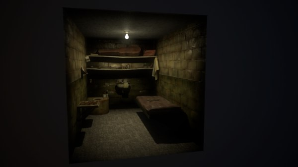 3d old prison cell