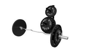 fbx curling bar weight set