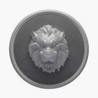panel lion figure 3ds