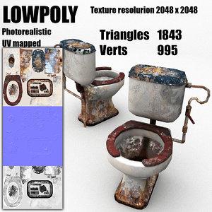 3d old toilet