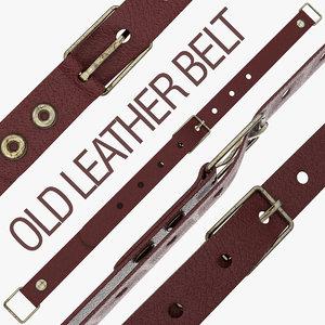 3d model belt leather old