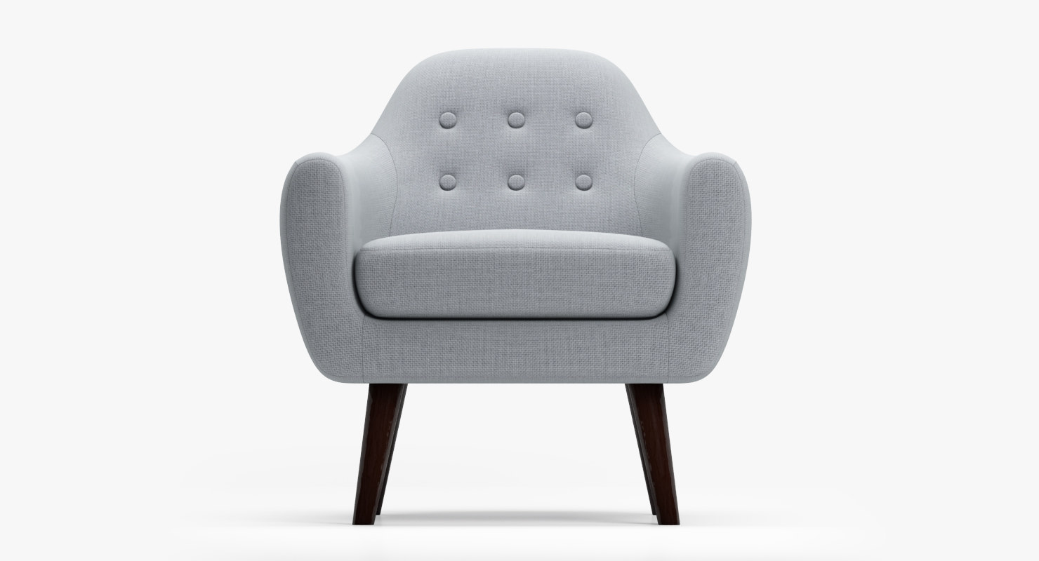 3d armchair ritchie pearlgrey model
