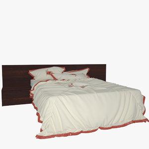 3d v-ray bed mattress