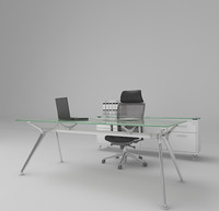 3d working desk model