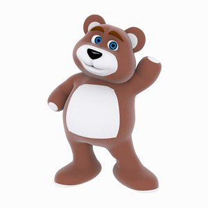 3d bear cartoon