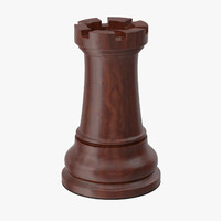 rook chess piece 3d model