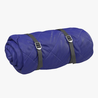 Folded Blue Sleeping Bag