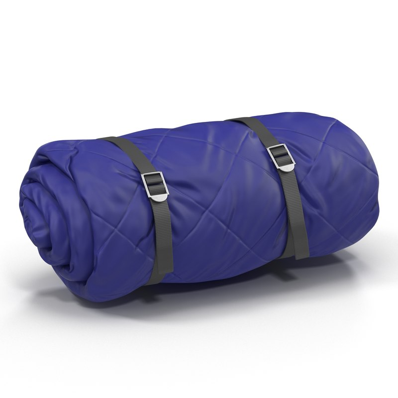 folded blue sleeping bag 3d 3ds