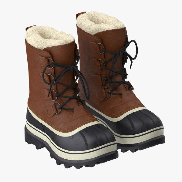 snow boots 01 3d model