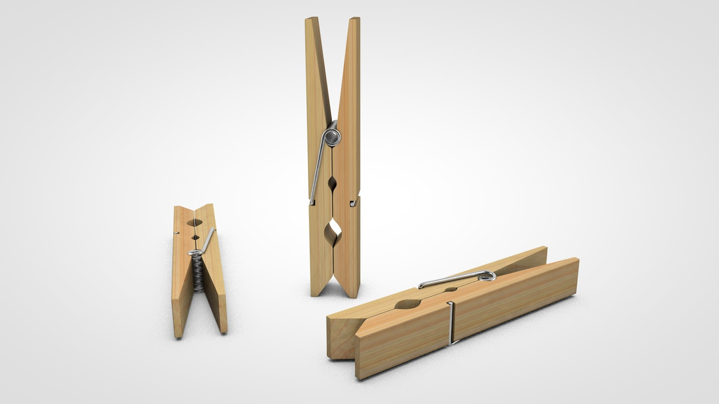 clothes pin 3d model