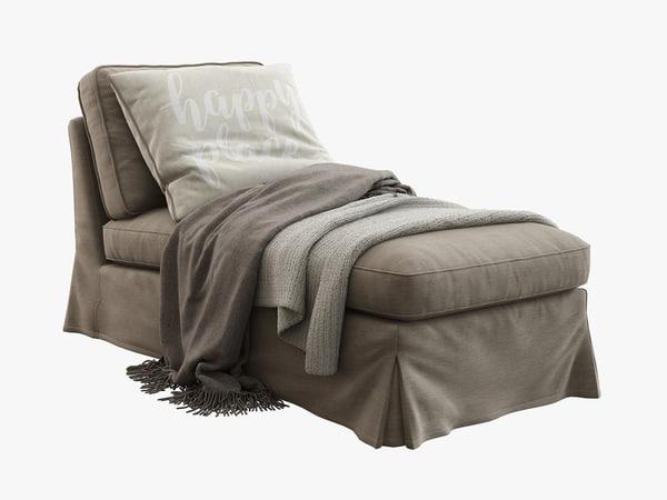 3d ikea ektorp chaise lounge model