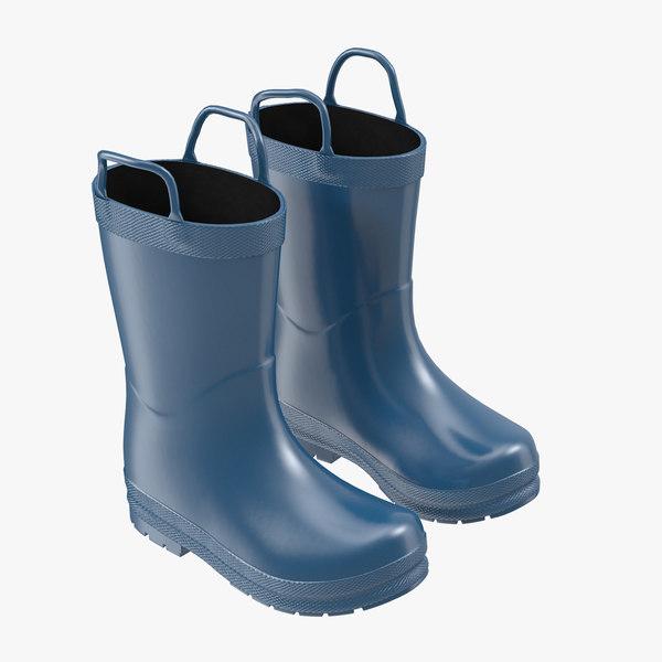 kids rain boots obj