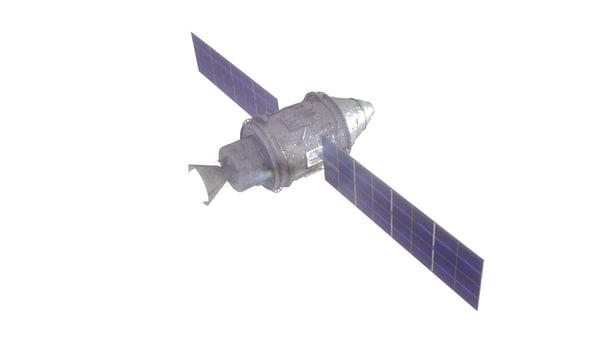 satellite vehicle spaceship 3d 3ds
