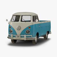 3d model volkswagen type 2 single