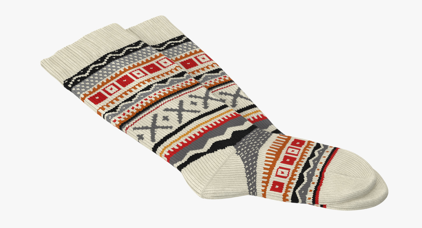 3d winter socks