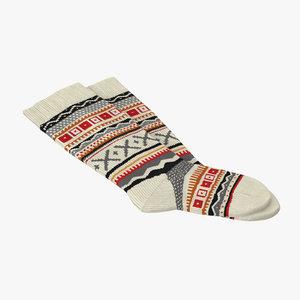 3d winter socks