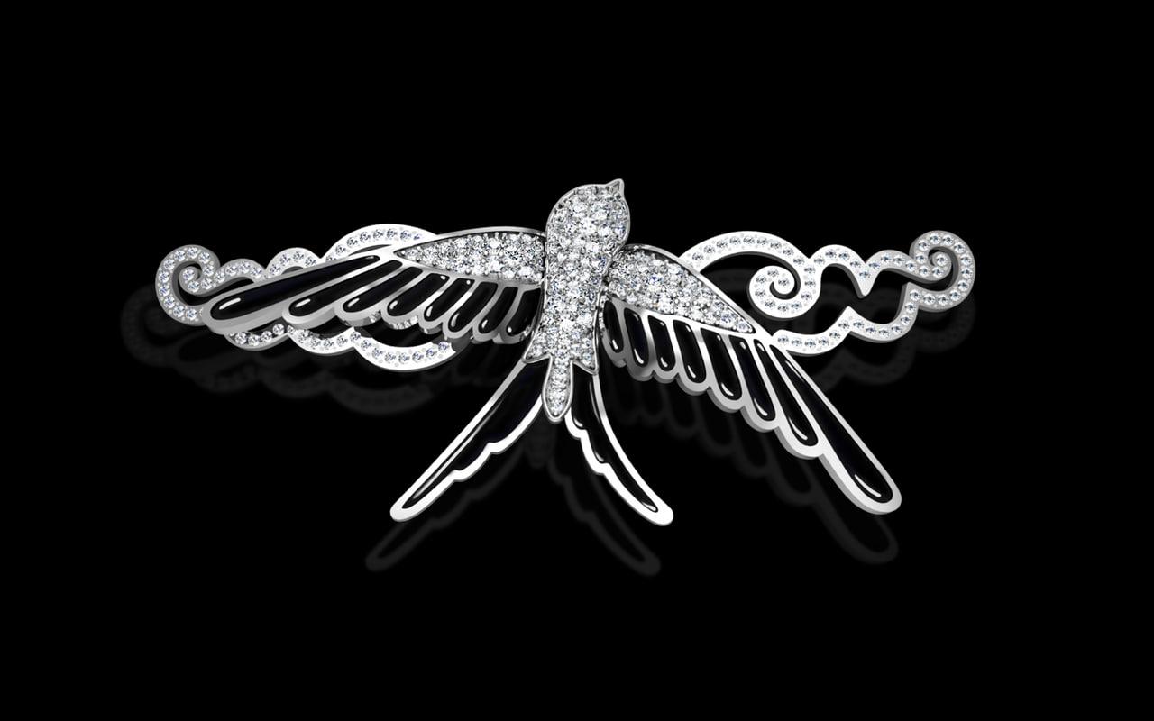 bracelet swallow 3d model