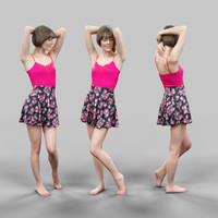 beautiful girl posing 3d model