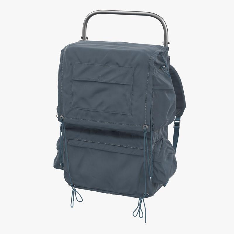 camping backpack 2 3d model