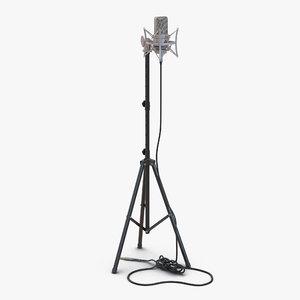 3d c4d condenser microphone stand rode
