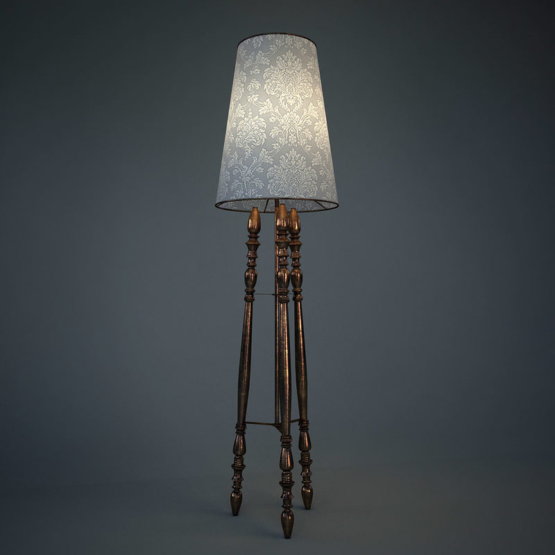 3d tripod floor lamp model