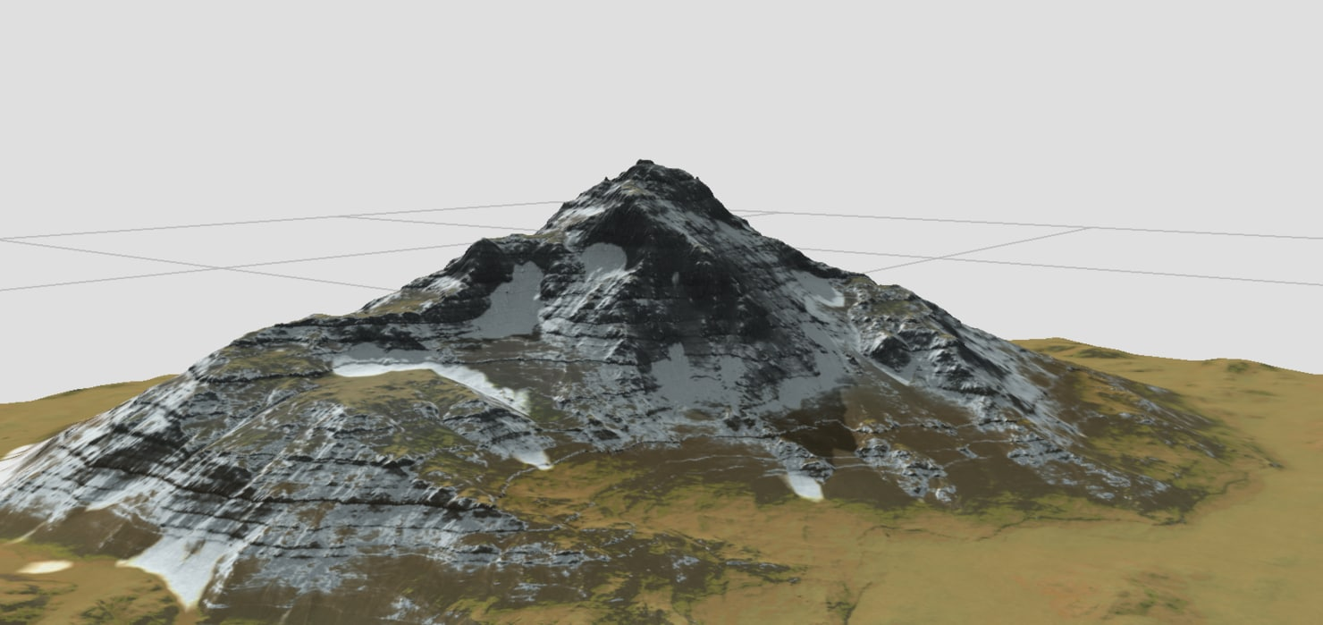 terrains snow mountain 3d model