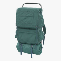 camping backpack 3d model
