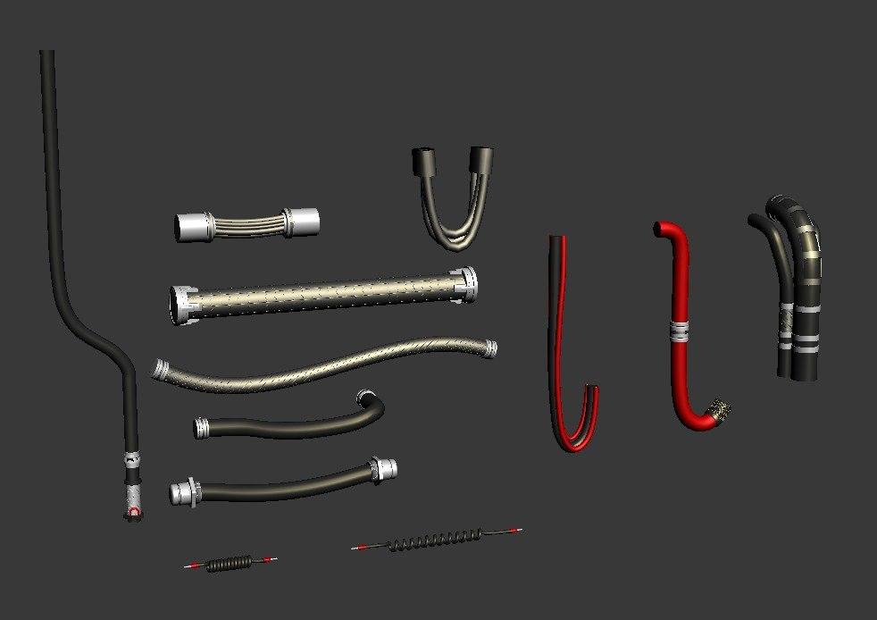 3d cables wires mech