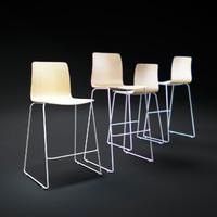 3d model hay-jw01-bar-stool