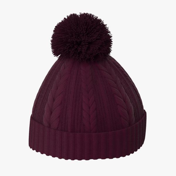3d winter hat 01 model