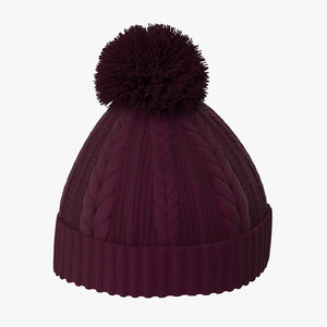 3d winter hat 01 model