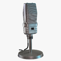 retro microphone electro-voice v-1 3d model
